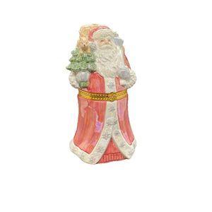 Ceramic Santa Figurine Christmas Trinket Box